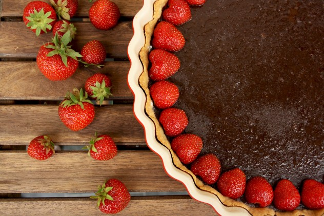 Double Chocolate Tart with Blackberries: Recipe for Chocolate Lovers. Extremely flavorful, indulgent and intensely chocolaty dessert for special occasions.