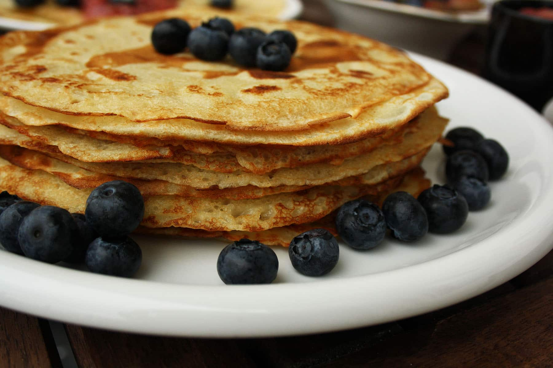 Ultimate Russian Pancakes: Traditional Recipe. I use this recipe for 10 years and my pancakes always come out great. Made of wheat flour, milk and eggs. Yum!