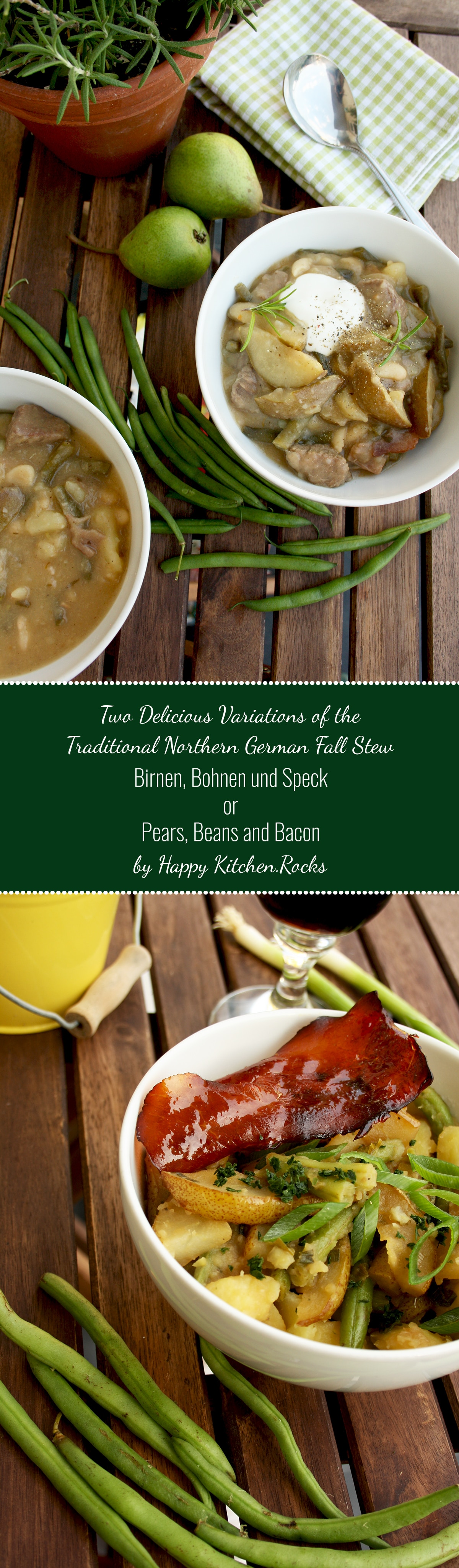 Two delicious variations of the traditional northern german fall birnen bohnen und speck or pears beans and bacon an adopted version of forumfinder Image collections