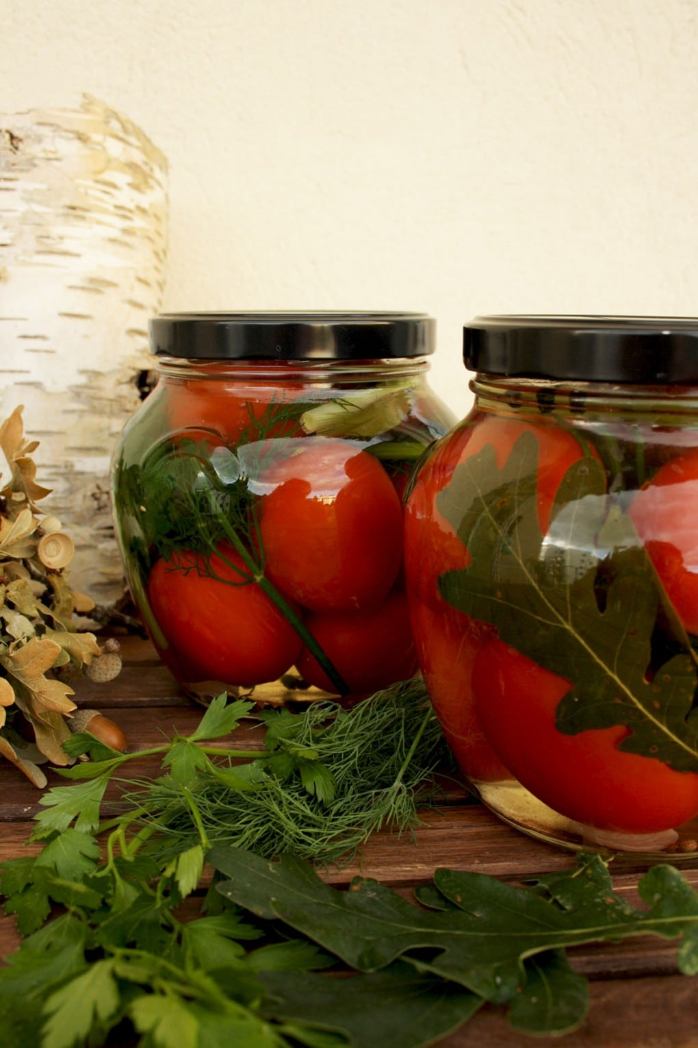 Russian Grandma's Pickled Tomatoes in Greenery Canned