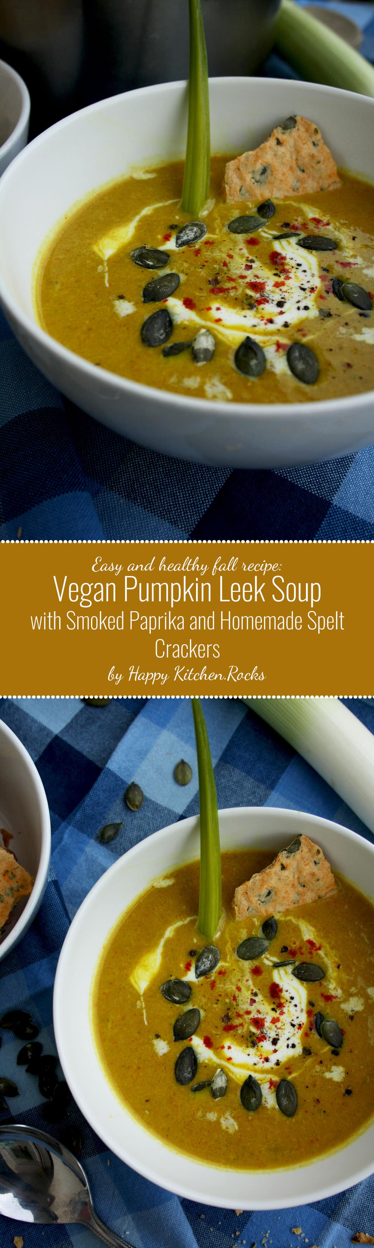 and flavorful autumn recipe: Pumpkin leek soup with smoked paprika ...