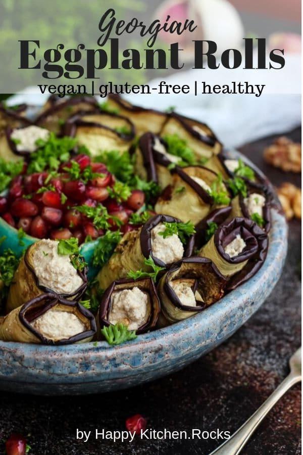 Vegan Georgian Eggplant Rolls Pinterest