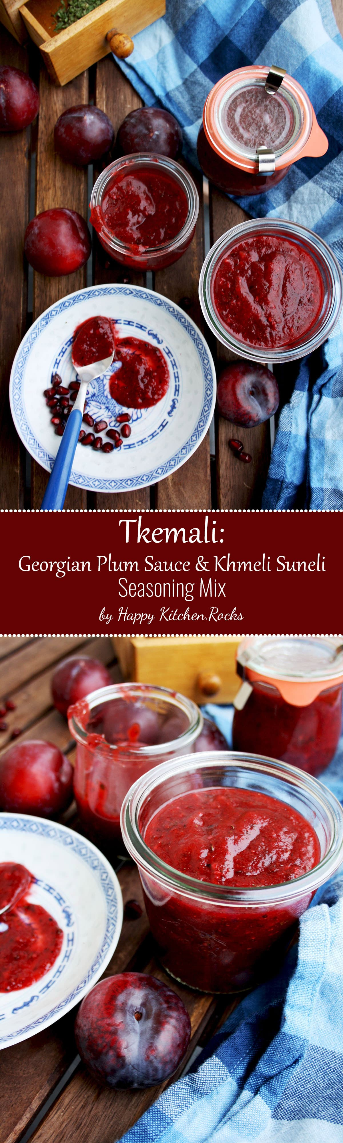 Tkemali Georgian Plum Sauce Super Long Collage with Text Overlay