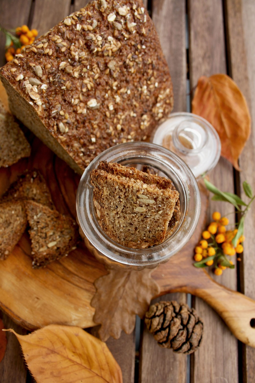 Rye crackers in a jar