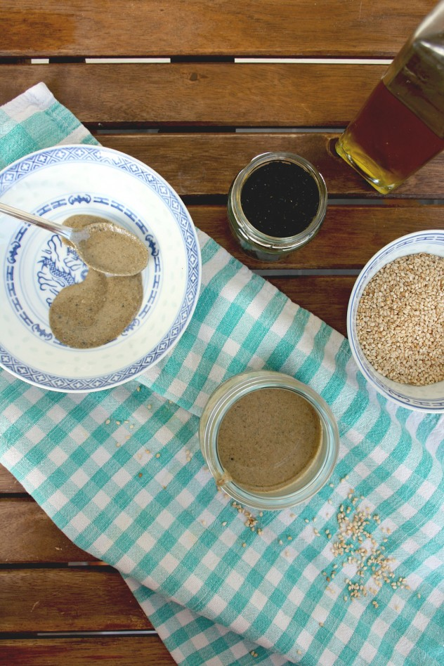 Homemade Tahini Paste: 2 ingredient 5 minute vegan recipe. Tahini paste is irreplaceable in hummus and widely used for salad dressings and roasted vegetables