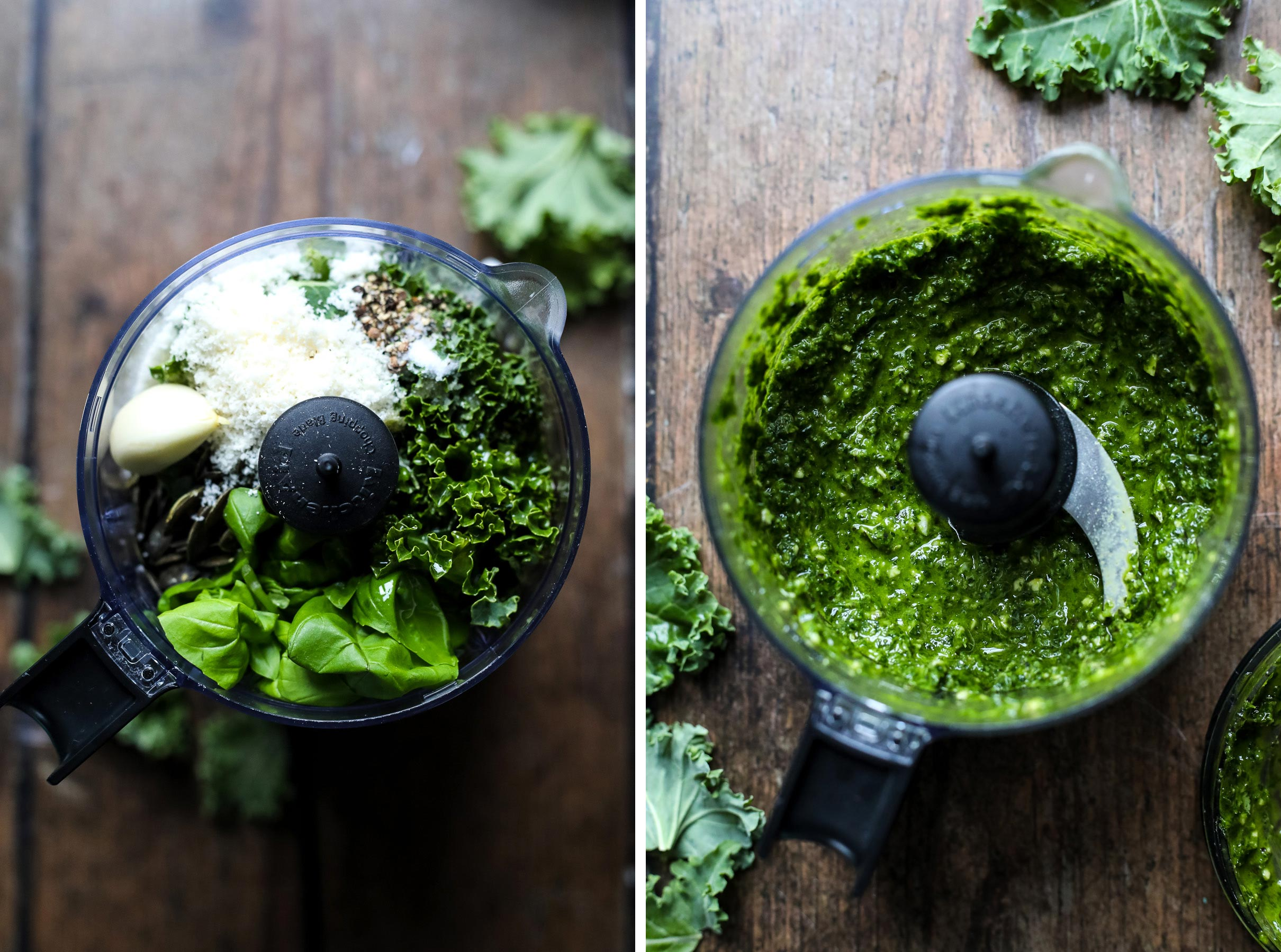Pesto Dressing for the kale salad.