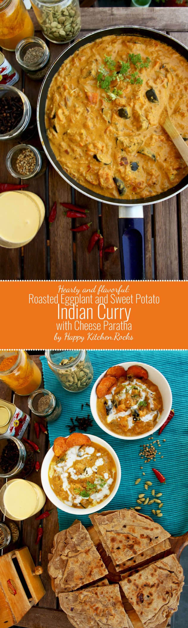 Pinterest Image Eggplant Curry with Sweet Potatoes