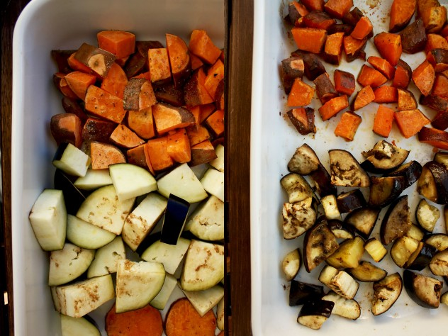 roasted vegetables for curry