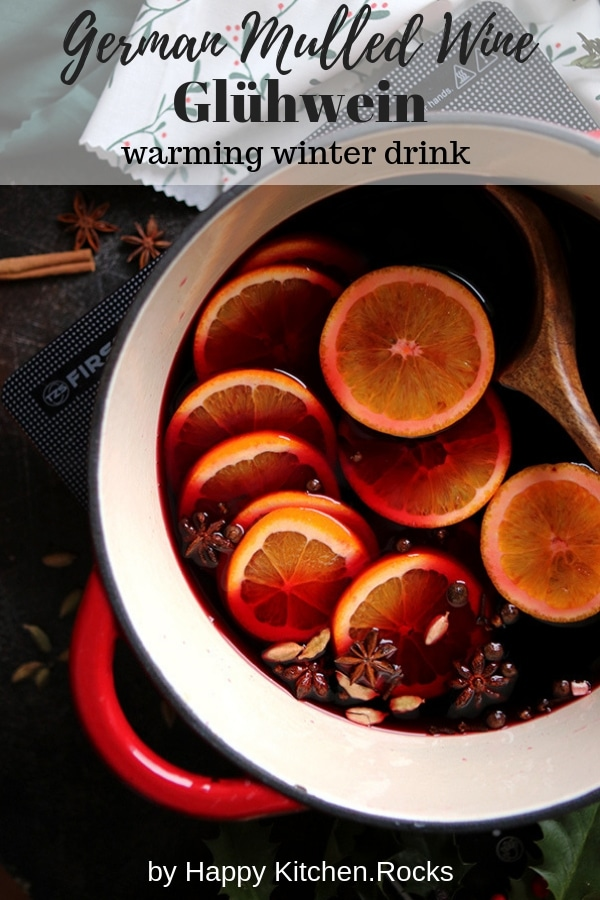 German Mulled Wine Gluhwein Collage with Text Overlay