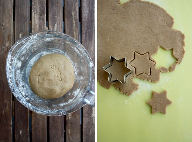 German Christmas Cookies - Lebkuchen - in the Process of Making Shapes