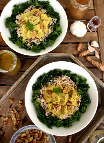 Satsivi: Georgian Chicken with Walnut Sauce. Delicious, wholesome, easy and flavorful 20 minutes dinner recipe. Comforting, aromatic and healthy dish.