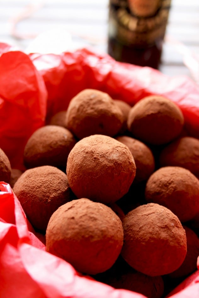 Three Chocolate Truffles Recipes - First Recipe in a Red Paper - Looks Delicious!