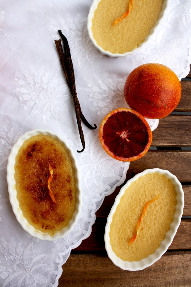 Blood Orange Crème Brûlée - Another Shot of the Beautiful Dessert