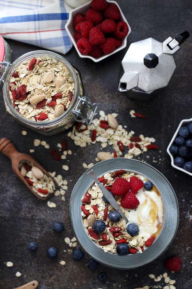 Muesli Recipe: A Healthy and Delicious Breakfast Idea - Muesli Bowl and Jar on the Table