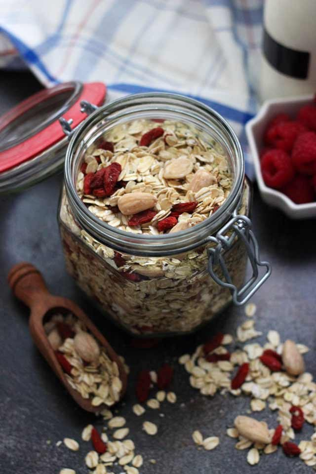 Muesli Recipe: A Healthy and Delicious Breakfast Idea - Open Jar Full of Muesli