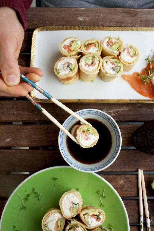 Pancake Sushi Rolls