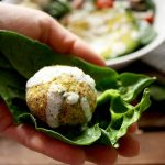 Falafel with Lemon Mint Sauce