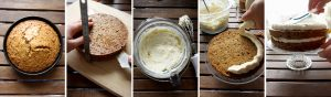 Super Moist Carrot Cake with Vanilla Cream Cheese Frosting - More Steps Image Collage