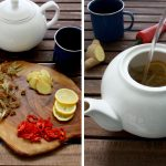 Natural Flu Remedy: Magic 4-Ingredient Tea - Four Vertical Images Collage