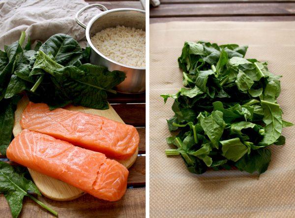 Salmon And Spinach In Parchment Recipe — Dishmaps
