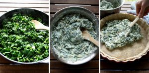 The Best Rustic Ricotta Spinach Quiche Step by Step Collage