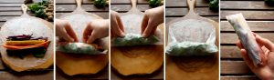 Fresh Vegan Spring Rolls Step 4 of the Instructions
