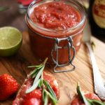 Indian Rhubarb Chutney with Strawberries