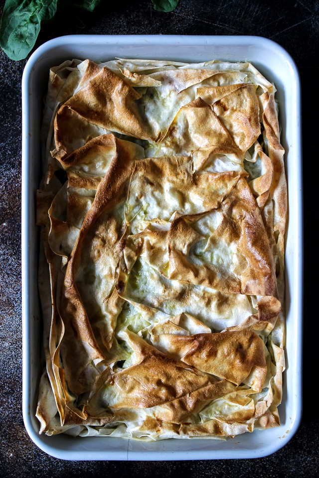 Baked Borek in a Baking Dish