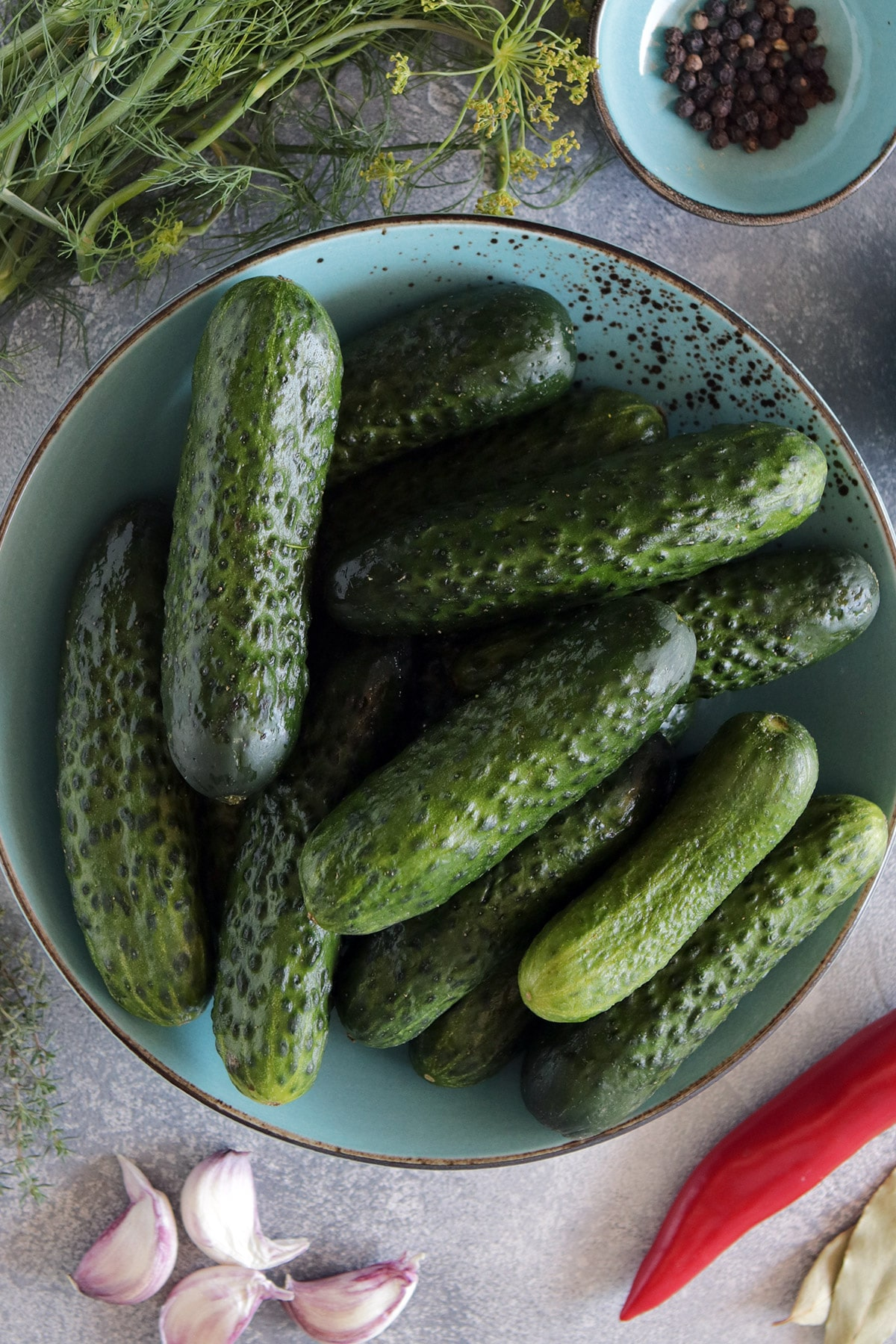 Cucumbers for Russian pickles