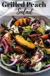 Peach Salad Pinterest Image