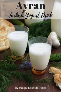 Ayran Turkish Yogurt Drink Pinterest Image