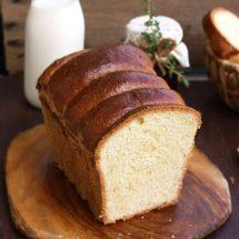Healthier Brioche French Toast with Milk in the Background