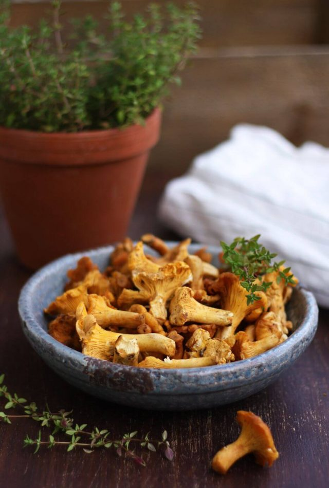 Russian Pan-Fried Potatoes with Wild Mushrooms - Mushrooms Ingredient Closeup