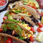 5-minute Easy Vegan Tacos
