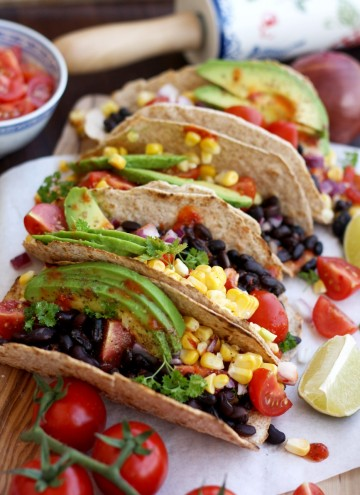 5-minute Easy Vegan Tacos Beauty Shot Image