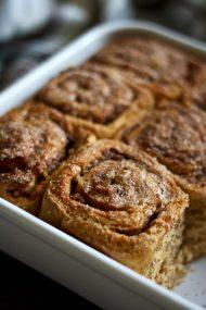 Healthy Cinnamon Sweet Potato Rolls in a Tray Closeup