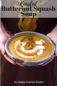 Holding a Plate of Roasted Butternut Squash Soup Pinterest