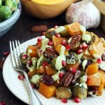 Roasted Brussels Sprouts with Butternut Squash