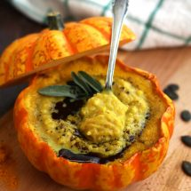 Easy Pumpkin Soup with Millet in Pumpkin Bowls - Delicious Dish Served for Dinner