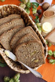 Healthy Pumpkin Bread with Walnuts
