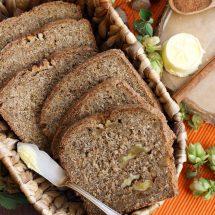 Healthy Pumpkin Bread with Walnuts
