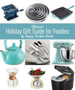 Ultimate Holiday Gift Guide for Foodies includes more than 46 items arranged by price. Choose unique, elegant, personalized gift items for your loved ones!