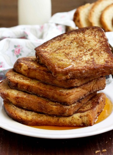 Healthier Brioche French Toast On the Table Ready to Be Served