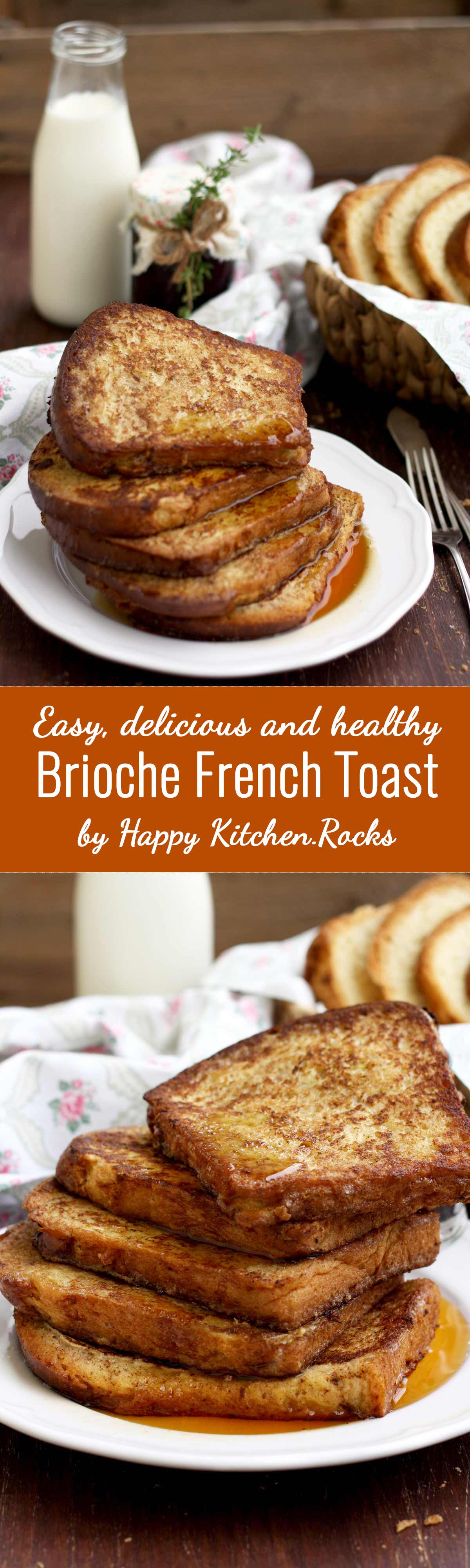 Healthier Brioche French Toast Super Long Collage with Text Overlay