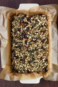 Healthy Chewy No Bake Granola Bars - Ready for Assembling and Presenting to the Guests