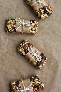 Healthy Chewy No Bake Granola Bars - Packed and Ready to be Given Away to Family and Friends