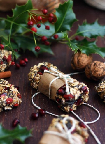 Healthy Chewy No Bake Granola Bars - Delicious Composition with Walnuts, Cinnamon and Other Ingredients on the Table