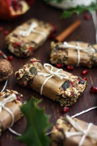 Healthy Chewy No Bake Granola Bars - Closeup with Lots of Treats Ready to Be Given Away