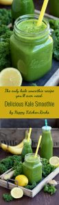 Delicious Kale Smoothie Super Long Collage with Text Overlay