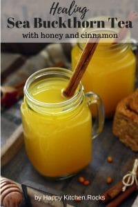 Sea Buckthorn Tea in a Mason Jar Pinterest